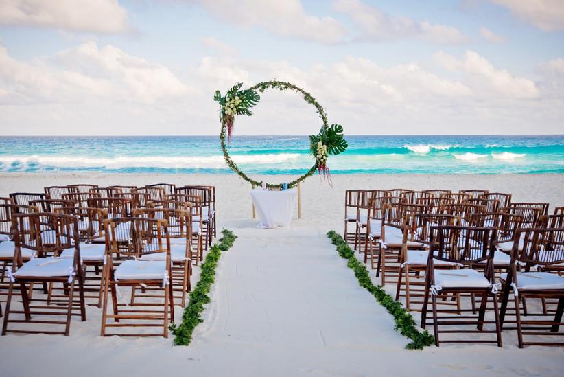 decoración para ceremonia boda en la playa