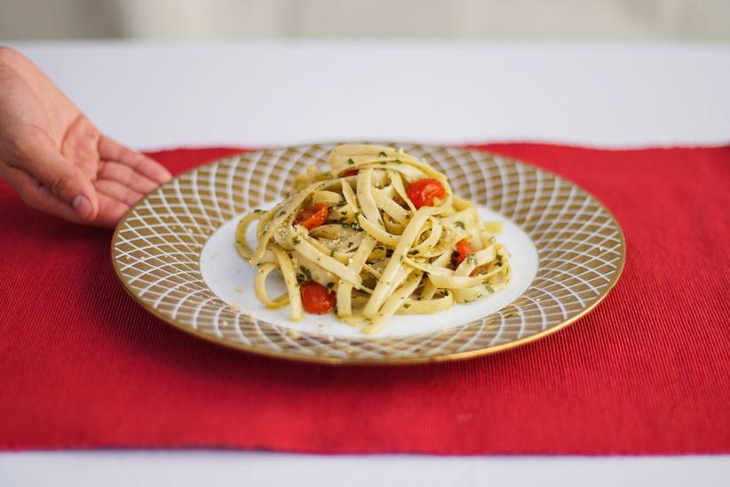 plato de espaguetis para boda