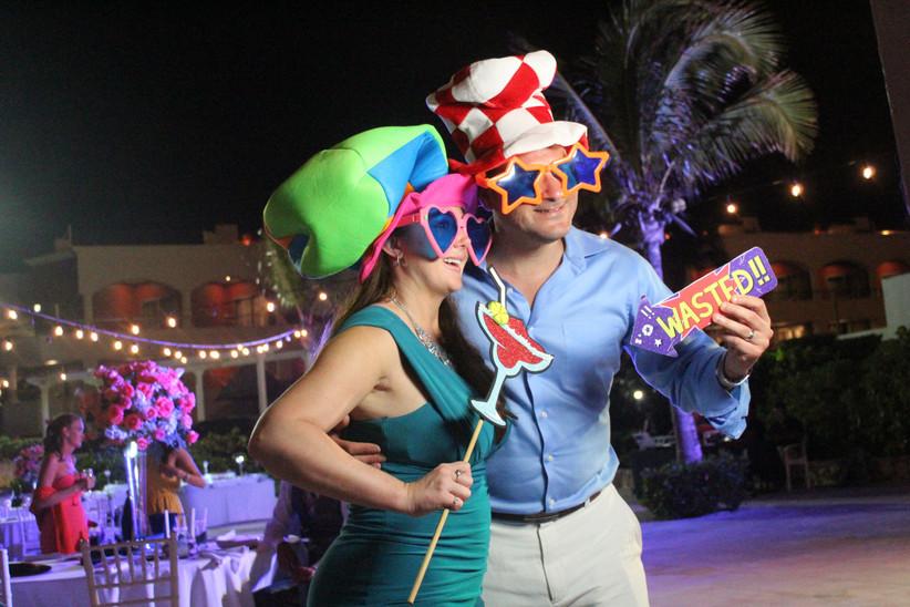 accesorios divertidos para la boda y sesión de fotos