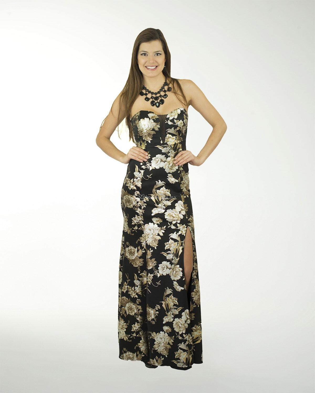 Vestido De Fiesta De Liz Minelli 7cl06391neg
