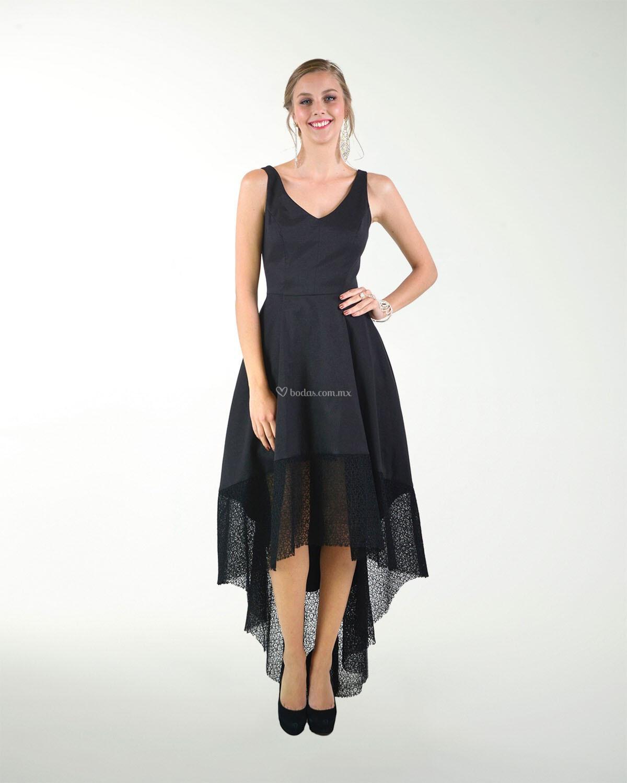 Vestido De Fiesta De Liz Minelli 7cl05718neg
