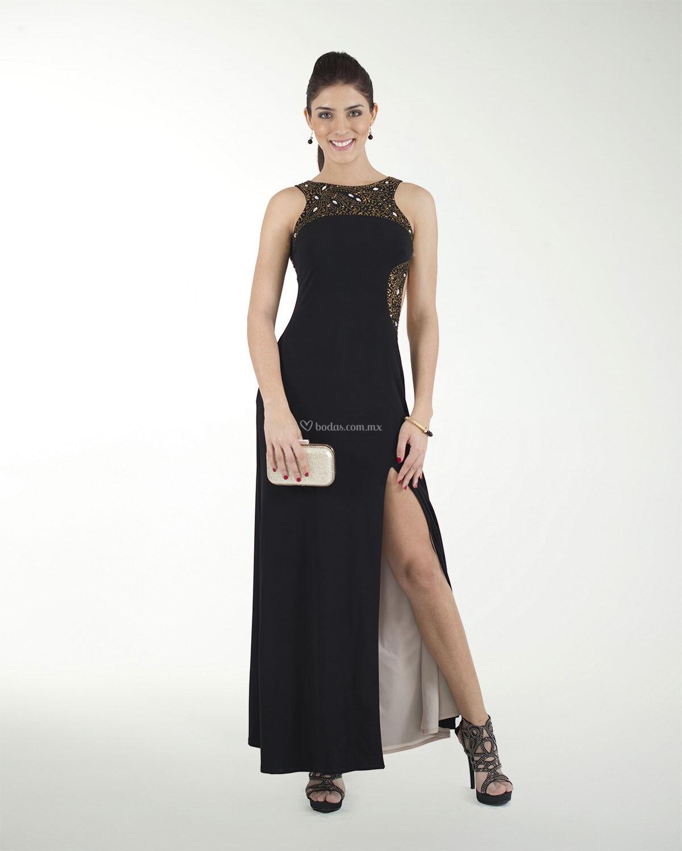 Vestido De Fiesta De Liz Minelli 5cl04474neg