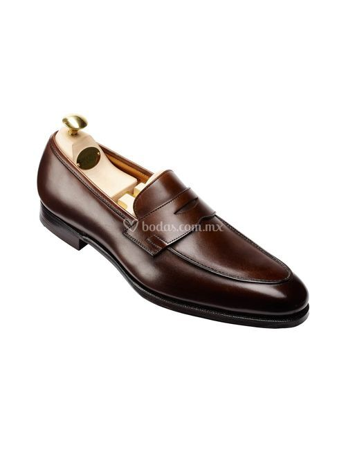 CRAWFORD Dark Brown Antique Calf, Crockett & Jones