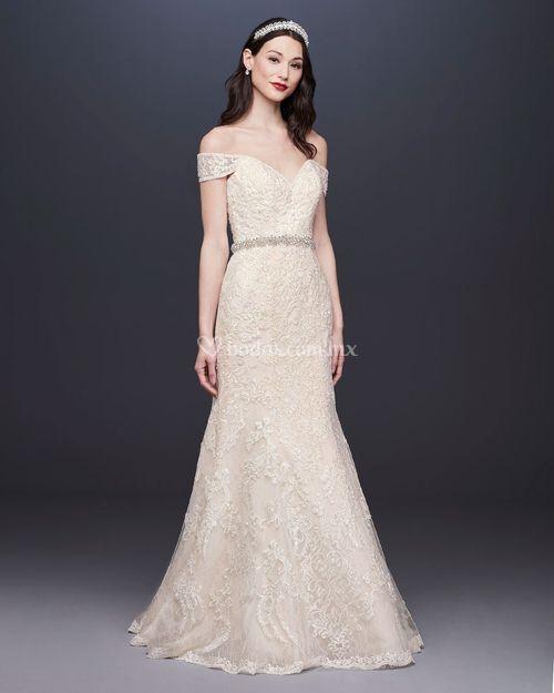 8001468, David's Bridal: Oleg Cassini