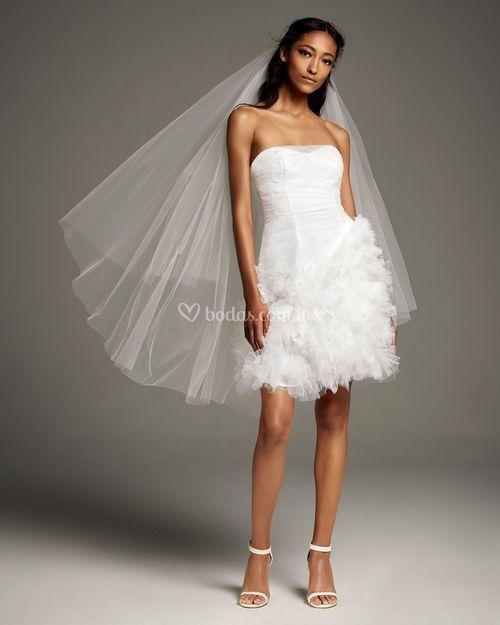 8002265, David's Bridal: White By Vera Wang