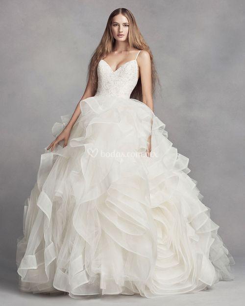 8000756, David's Bridal: White By Vera Wang