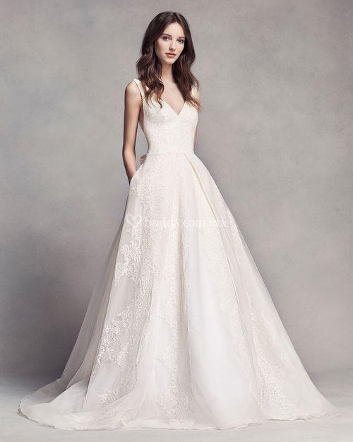 8000517, David's Bridal: White By Vera Wang