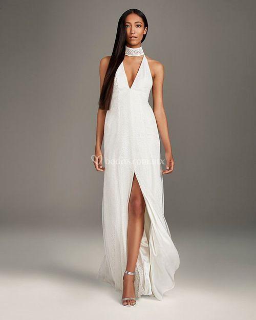 8003018, David's Bridal: White By Vera Wang