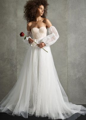 8003081, David's Bridal: White By Vera Wang