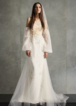 8002812, David's Bridal: White By Vera Wang