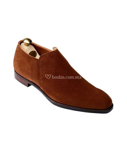 kempton ii Polo Brown Calf Suede, Crockett & Jones
