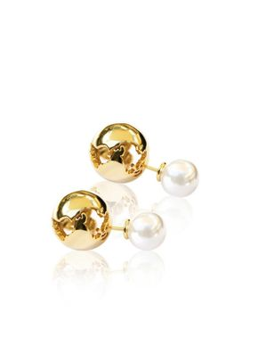 Globe Pearl Earrings, Cristina Ramella