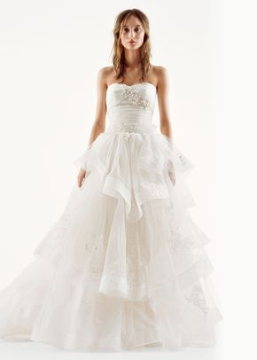 8001434, David's Bridal: White By Vera Wang