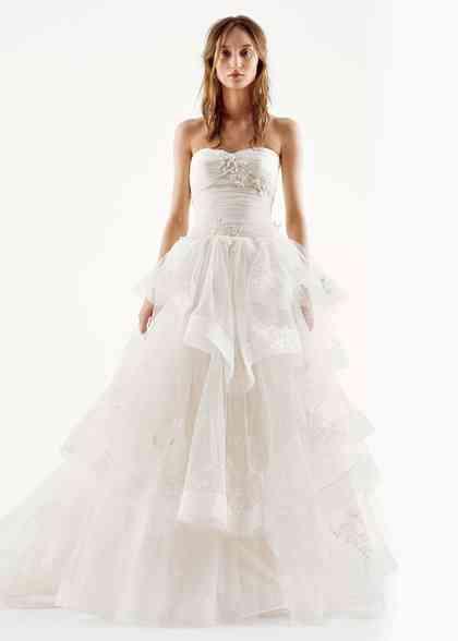 8000513, David's Bridal: White By Vera Wang