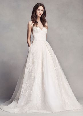 8000517, David's Bridal: White By Vera Wang