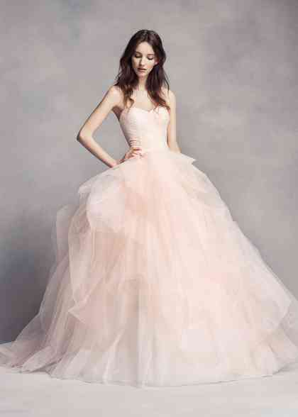 8000518, David's Bridal: White By Vera Wang