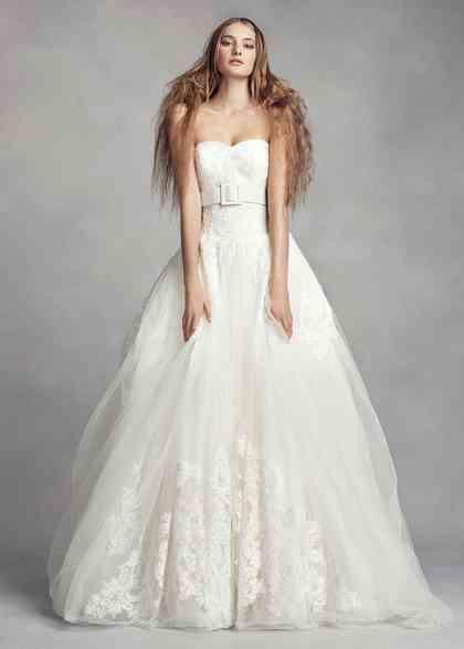 8000519, David's Bridal: White By Vera Wang