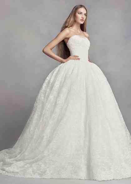 8000645, David's Bridal: White By Vera Wang