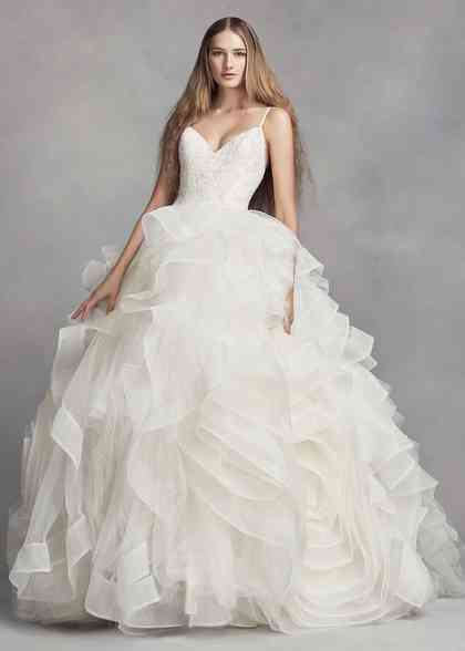 8000756, David's Bridal: White By Vera Wang