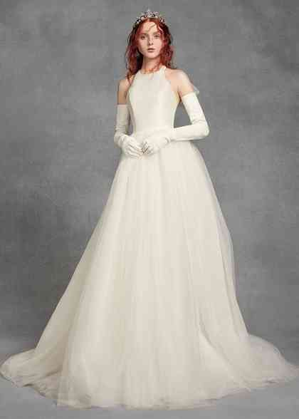 8000980, David's Bridal: White By Vera Wang