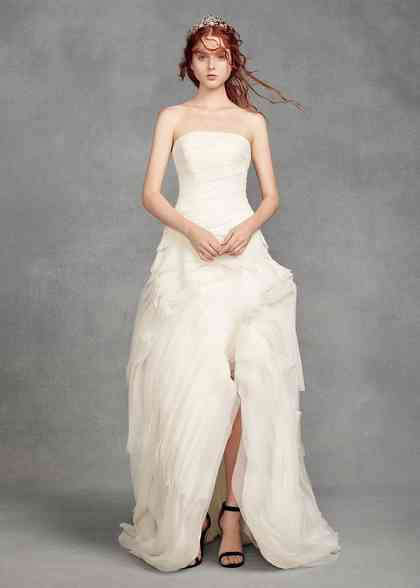 8001329, David's Bridal: White By Vera Wang