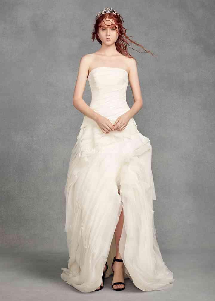 8001329, David's Bridal: White By Vera Wang