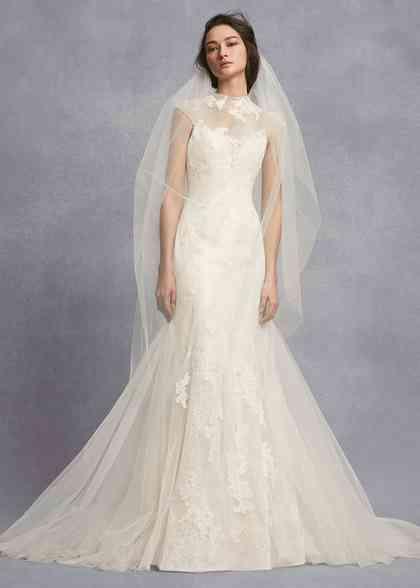 8001434, David's Bridal: White By Vera Wang