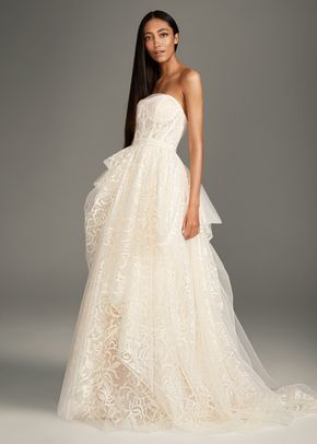 8002389, David's Bridal: White By Vera Wang