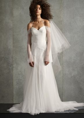 8002811, David's Bridal: White By Vera Wang