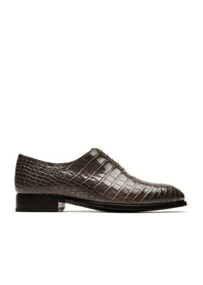 Brown Alligator Oxford, Brioni