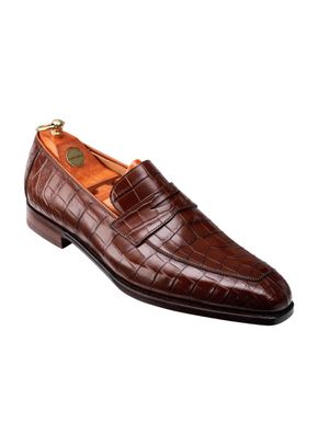 MERTON II Tan Crocodile, Crockett & Jones