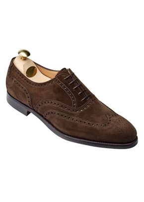 westgate Dark Brown Calf Suede, Crockett & Jones