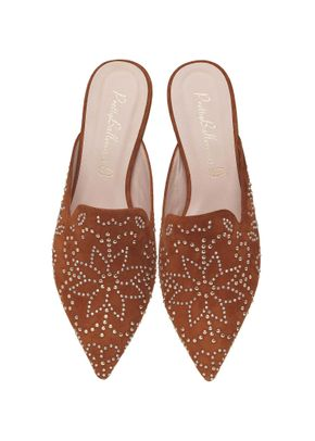 Ella studded tan slider, Pretty Ballerinas
