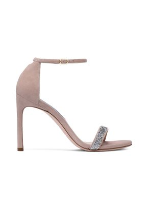 NUDISTSONG SUEDE AND CRYSTAL, Stuart Weitzman