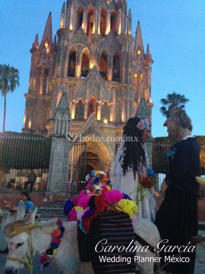 Callejoneada en San Miguel.
