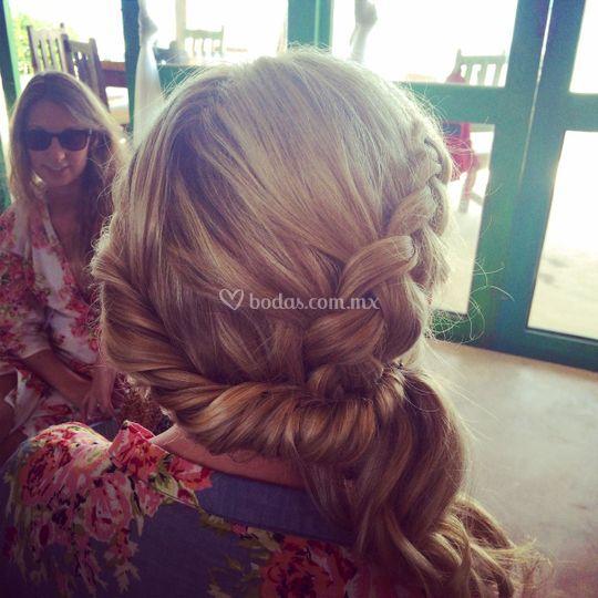 Peinado novia playa