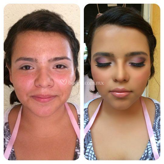 Maquillaje de dama