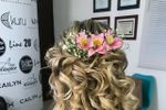 Peinado flores naturales