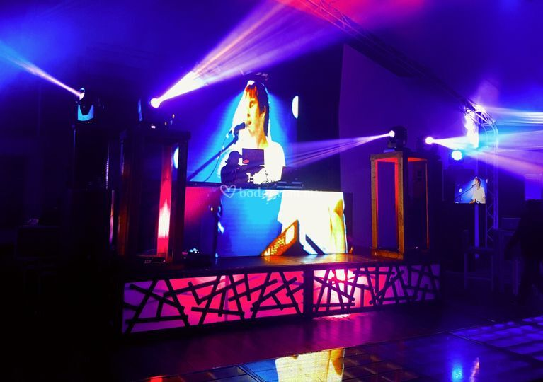 Dj booth + back led 4mm