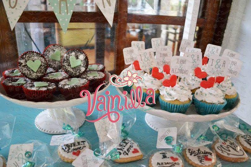 Cupcakes, brownies, galletas