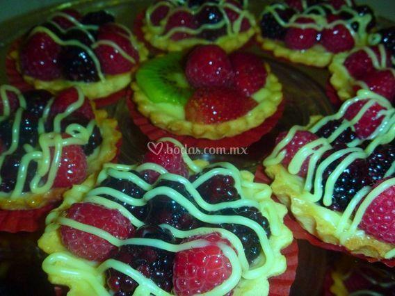 Tartas de frutas mixtas