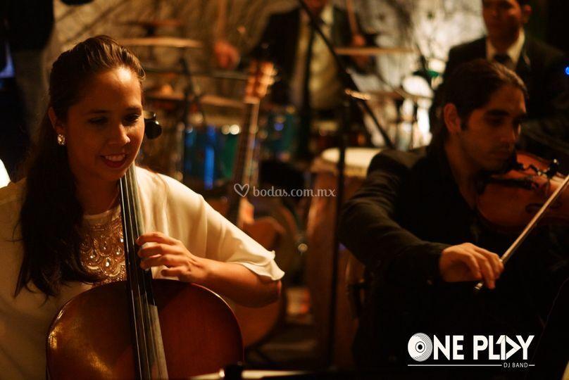 Elegancia, cello y violines