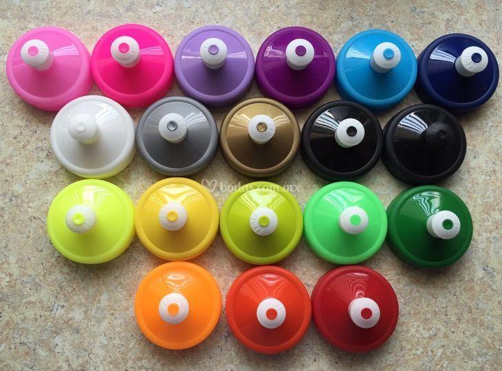 Colores de tapas para termos