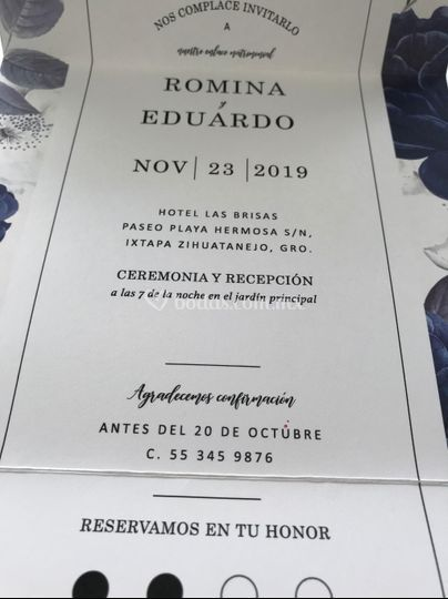 All in one wedding invitation