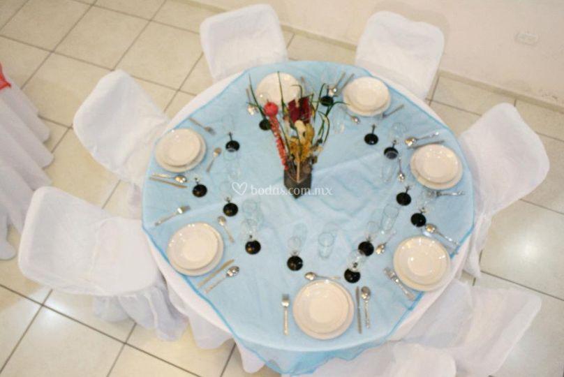 Vista de la mesa
