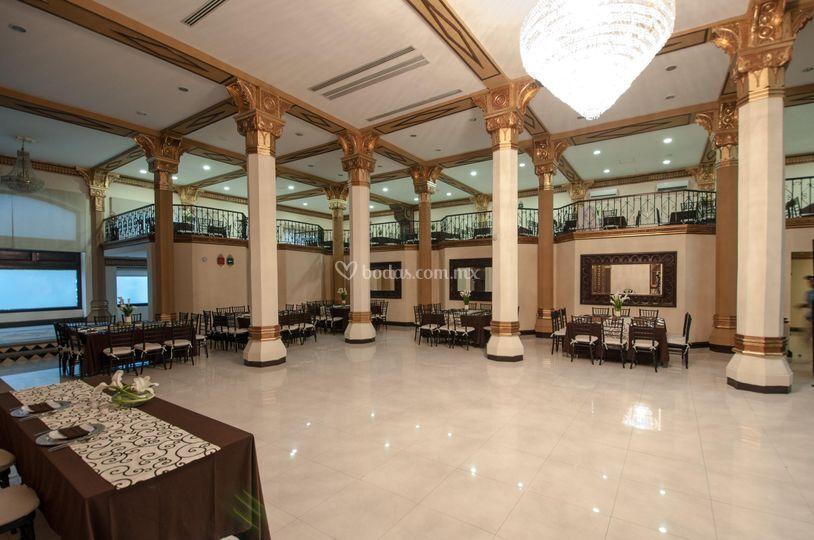 Vista frontal del salón