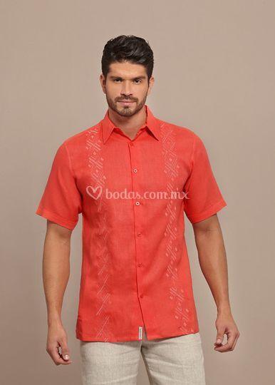 Camisa de lino rojo