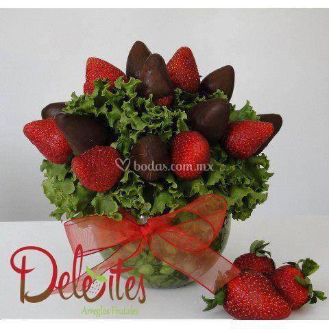 Ricas fresas con chocolate