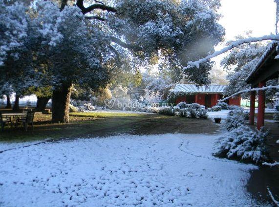 El rancho en invierno