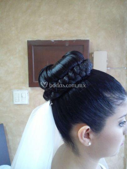 Boda peinado